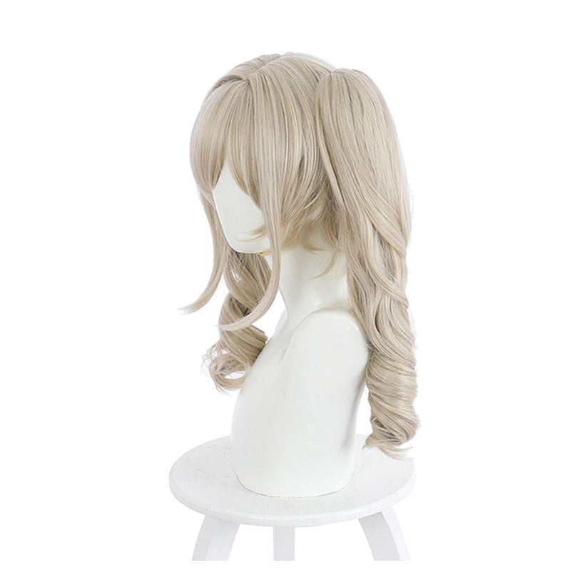 Game Genshin Impact Barbara Curly Blonde Ponytail Cosplay Wigs - Cosplay Clans