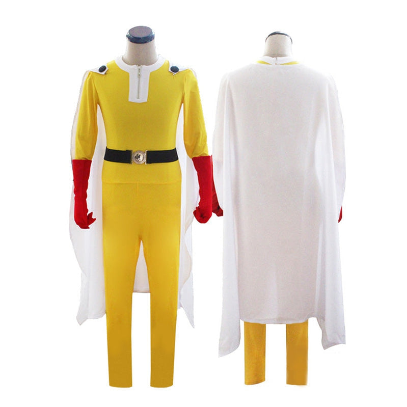 Anime One Punch Man Saitama Combat Suit Cosplay Costume - Cosplay Clans