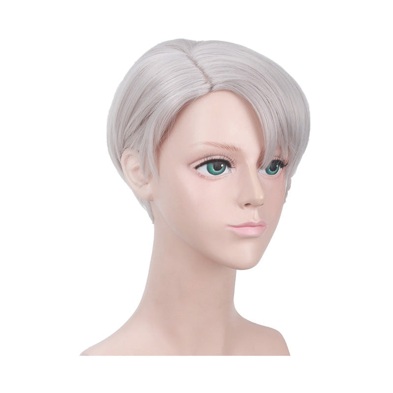 Anime Yuri on Ice Victor Nikiforov Short Gray Cosplay Wigs - Cosplay Clans
