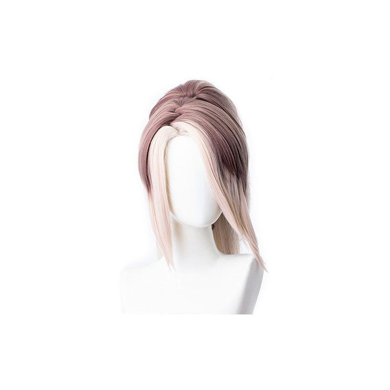 LOL True Damage Akali Gray Mixde White Ponytail Cosplay Wigs - Cosplay Clans