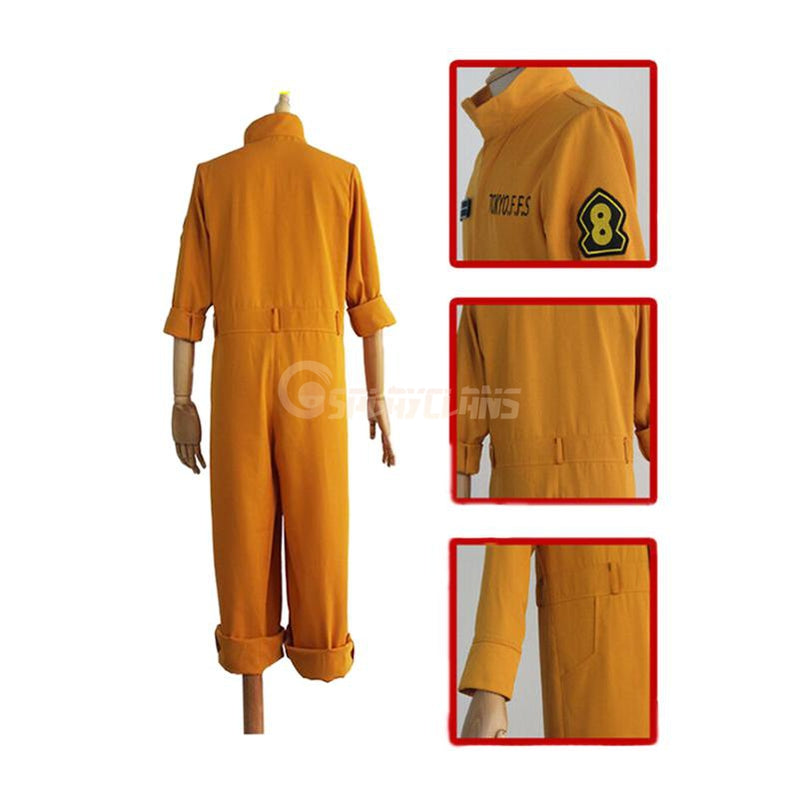Anime Fire Force Shinra Kusakabe & Maki Oze Fire Suit Cosplay Costume - Cosplay Clans