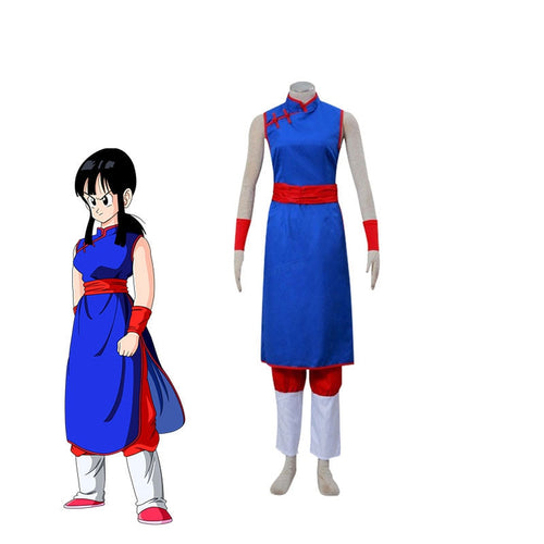 Anime Dragon Ball Chichi Cosplay Costume - Cosplay Clans