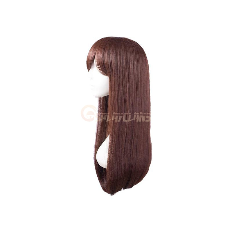 OW Game D.Va Hana Song Cosplay Wigs Long Hair Wigs - Cosplay Clans