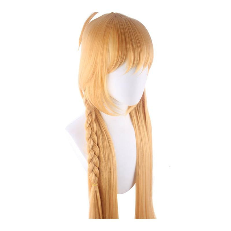 Princess Connect! Re:Dive Eustiana Von Astrea Yellow Gradient 120cm Long Straight Cosplay Wigs - Cosplay Clans