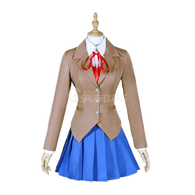 DDLC! Doki Doki Literature Club Monika Uniform Outfit Cosplay Costumes - Cosplay Clans