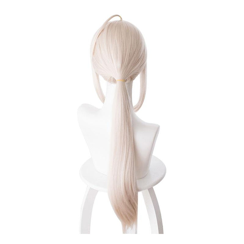 FGO Fate/Grand Order Saber Altria Chemical 70cm Light Pink Yellow Ponytail Cosplay Wigs - Cosplay Clans