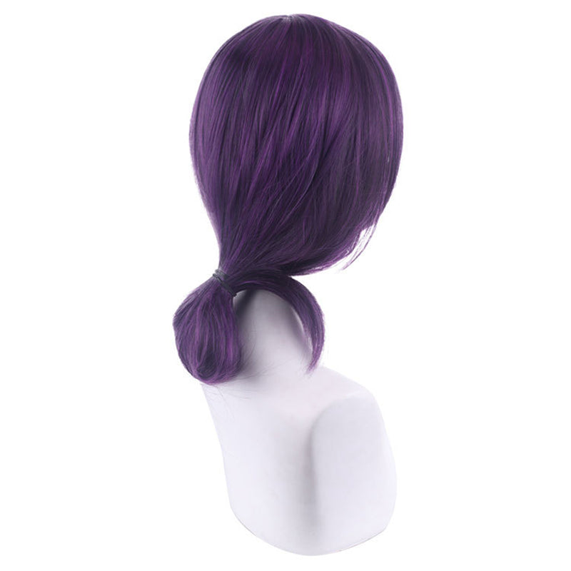 Chainsaw Man Reze Purple Short Cosplay Wigs