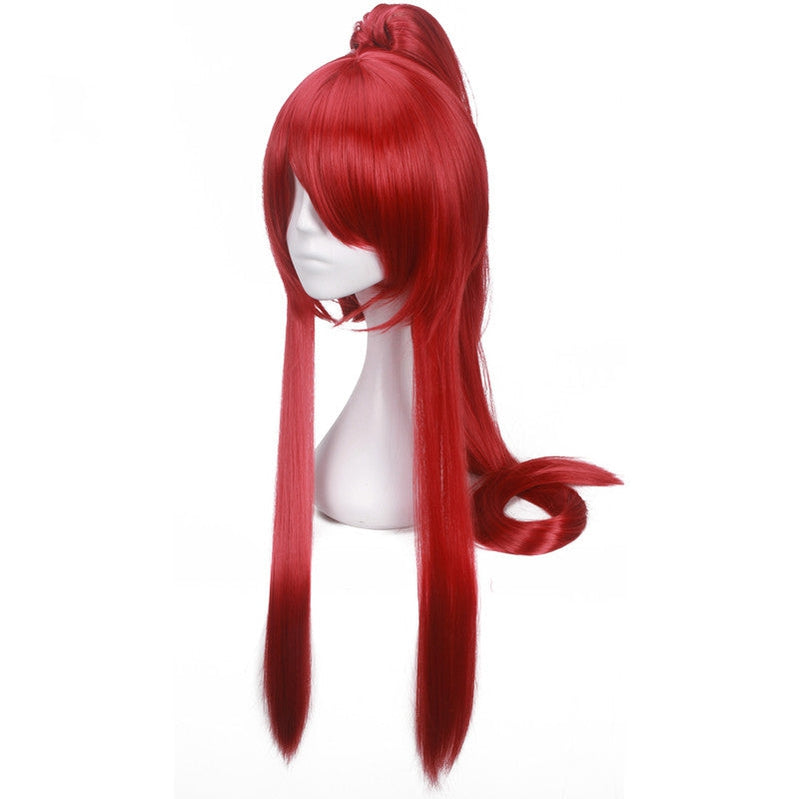 Anime Fairy Tail Erza Scarlet Red Long Cosplay Wigs - Cosplay Clans