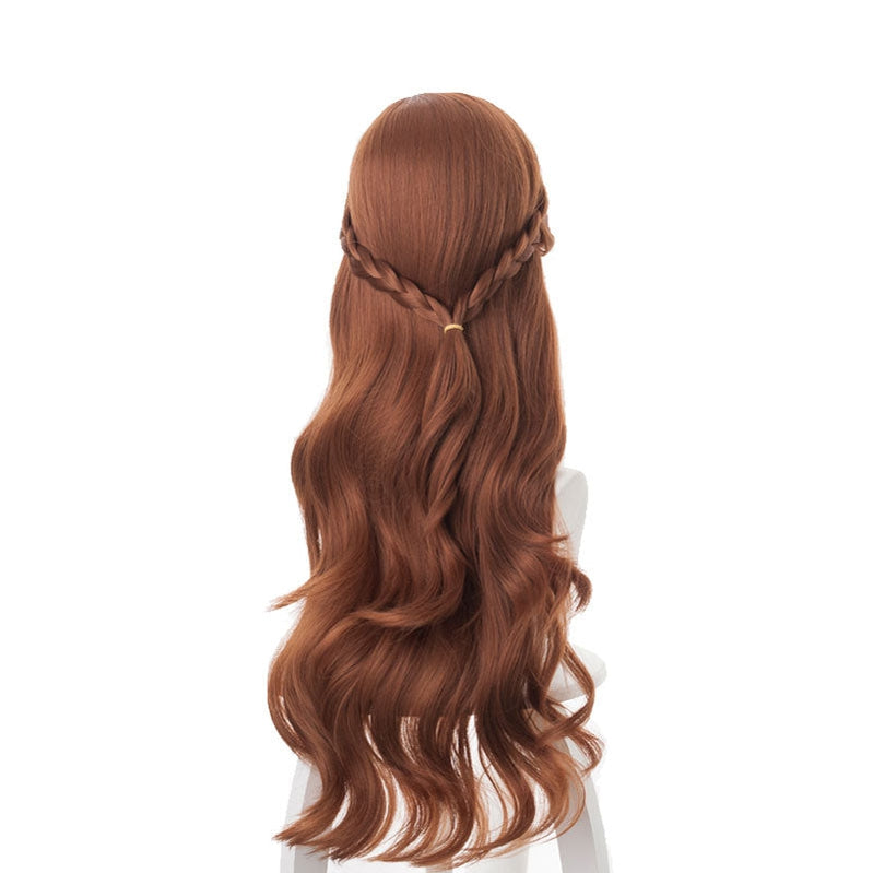 Movie Frozen 2 Princess Anna Brown Long Cosplay Wigs - Cosplay Clans