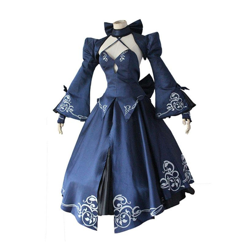 FGO Fate Stay Night Saber Alter Arturia Pendragon Women Black Bride Cosplay Costumes - Cosplay Clans