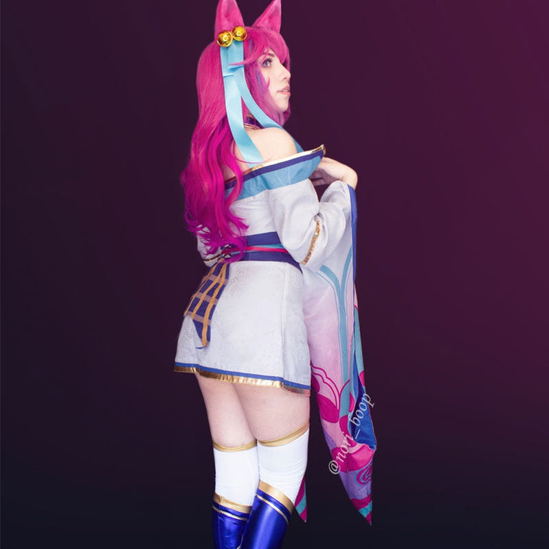 Game LOL Spirit Blossom Ahri Fullset Cosplay Costumes - Cosplay Clans