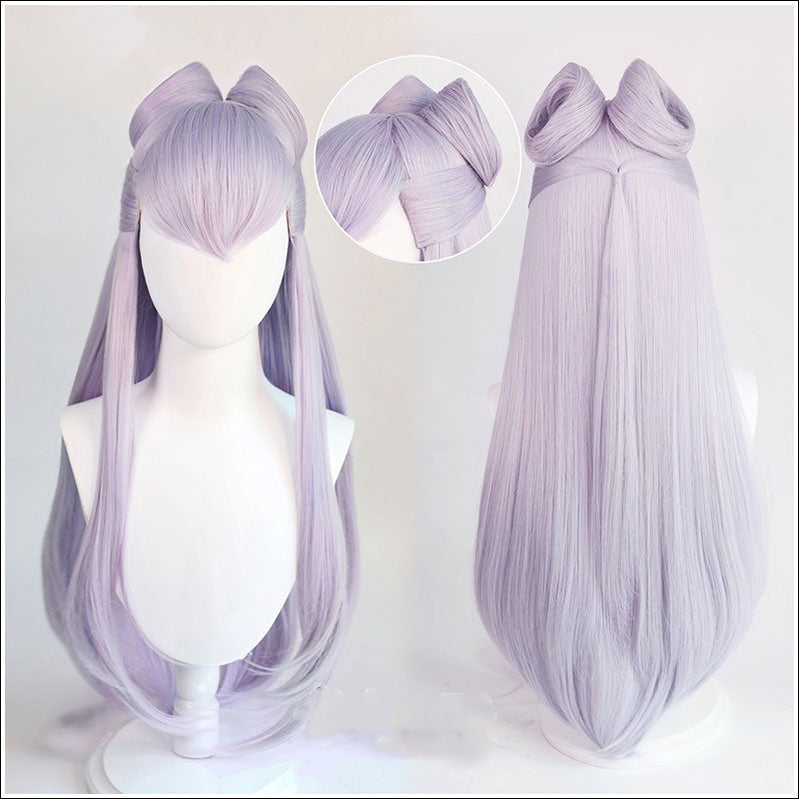 Game LOL KDA The Baddest Evelynn 80cm Long Light Purple Cosplay Wigs - Cosplay Clans