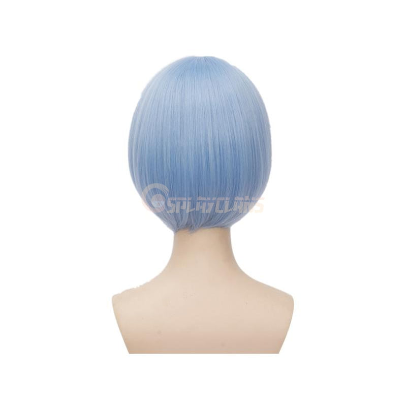 Anime Re:Zero Starting Life in Another World Rem and Ram Short Blue Pink Cosplay Wigs - Cosplay Clans