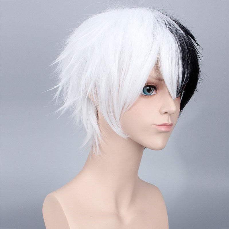 Anime Danganronpa: Trigger Happy Havoc Monokuma Black and White Bear Short Cosplay Wigs - Cosplay Clans