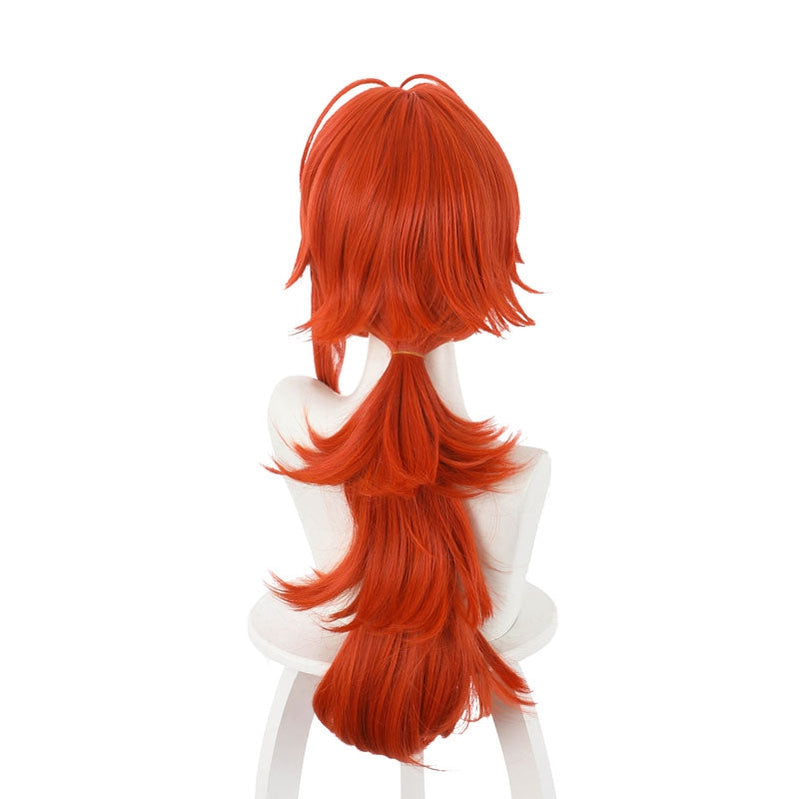 Game Genshin Impact Diluc Ragnvindr Orange Cosplay Wig - Cosplay Clans