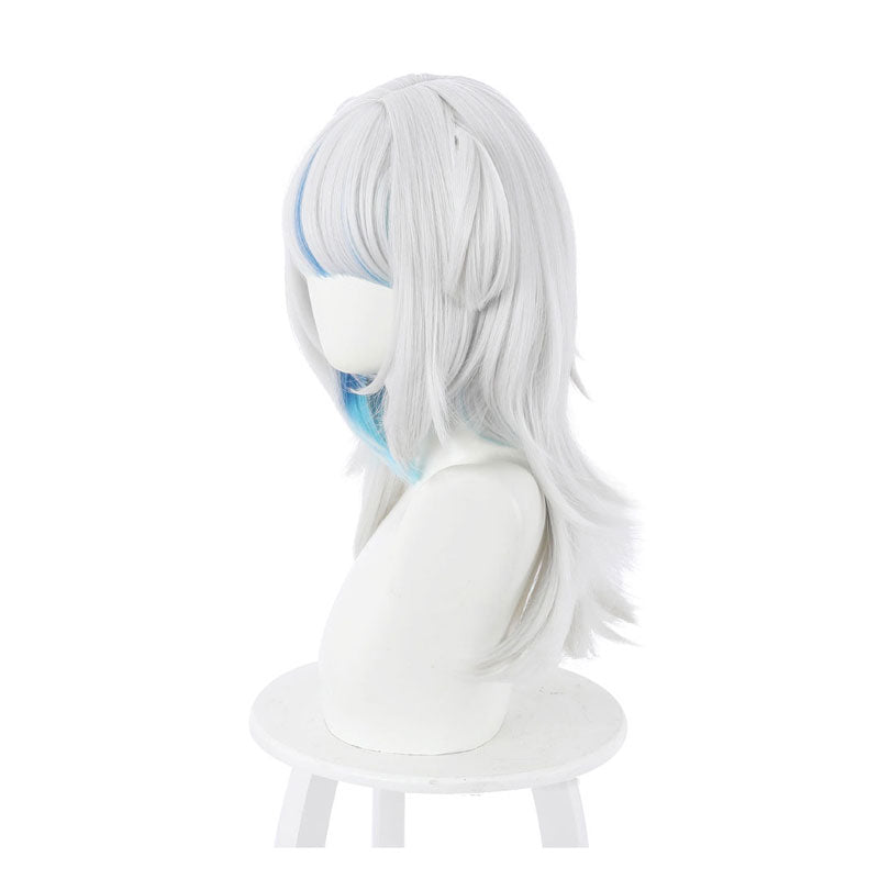 Hololive English Virtual YouTuber Gawr Gura Blue Mixed White Long Cosplay Wigs - Cosplay Clans