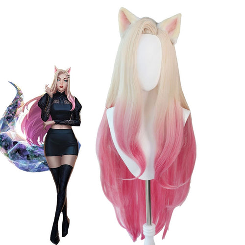 LOL KDA The Baddest Ahri Cosplay Wigs - Cosplay Clans