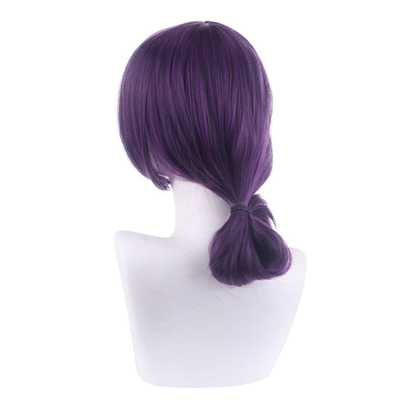 Anime Chainsaw Man Reze Purple Short Halloween Cosplay Wigs