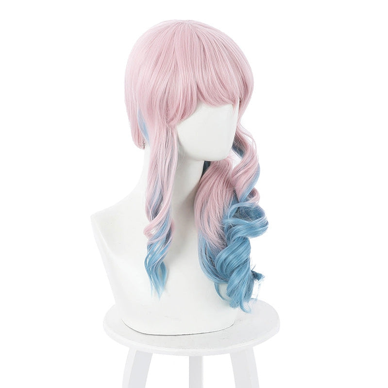 Anime Akudama Drive Doctor Long Pink Gradient Blue Cosplay Wigs - Cosplay Clans