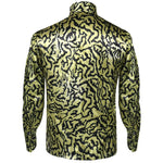 Tiger King Joe Exotic Shirt Yellow Blue Sequin Full Set Cosplay Costume - Cosplay Clans