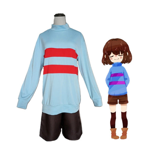 Game Undertale The Protagonist Frisk Cosplay Costume - Cosplay Clans