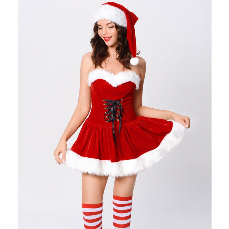 Christmas Stage Performance New Year Party Costumes Female Sexy Christmas Costumes - Cosplay Clans
