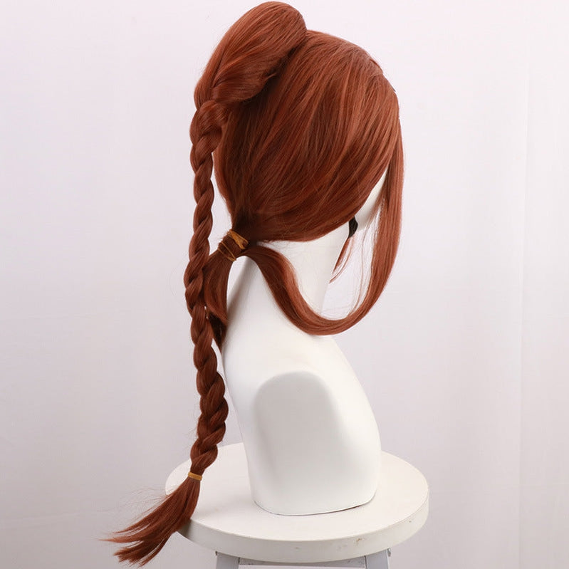 Anime Avatar: The Last Airbender Katara Brown 80cm Cosplay Wig - Cosplay Clans