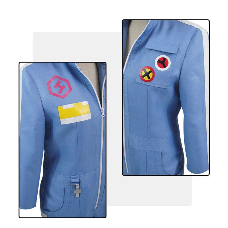 Anime Danganronpa 2: Goodbye Despair Kazuichi Souda Blue Uniform Cosplay Costumes - Cosplay Clans