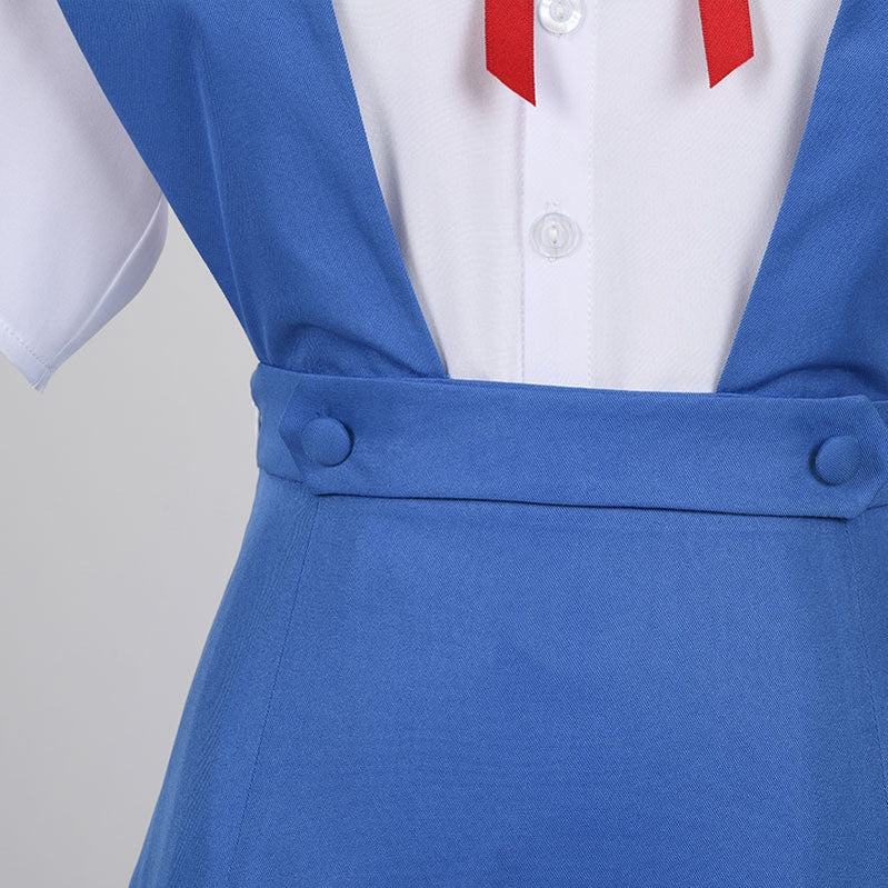 Neon Genesis Evangelion Asuka Langley Soryu Rei Ayanami High School Girl Uniform Cosplay Costume - Cosplay Clans