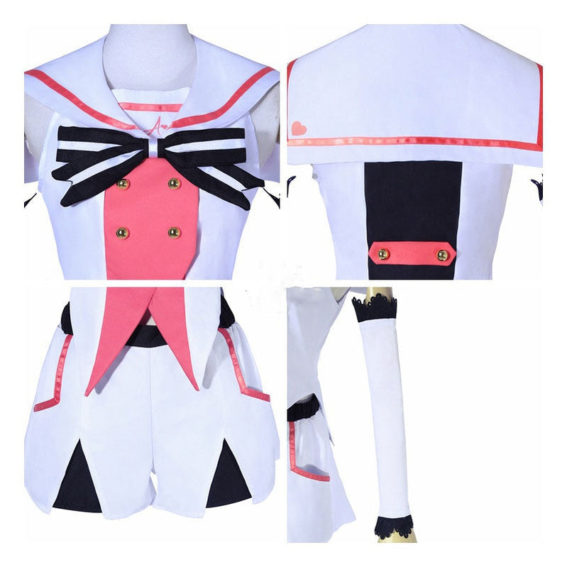Virtual YouTuber Kizuna AI Uniform Cosplay Costumes Halloween Party Show Dress - Cosplay Clans
