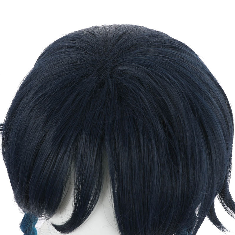 Game Genshin Impact Venti Gradient Blue Braided Cosplay Wig - Cosplay Clans
