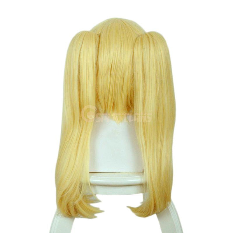 Anime Kakegurui Meari Saotome Mary Saotome Blonde Double Ponytail Synthetic Cosplay Wig - Cosplay Clans