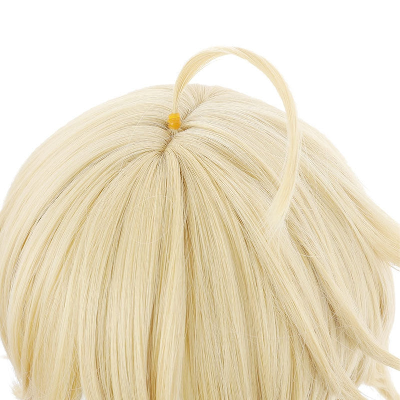 Game Genshin Impact Traveler Aether Blonde Ponytail Cosplay Wigs - Cosplay Clans