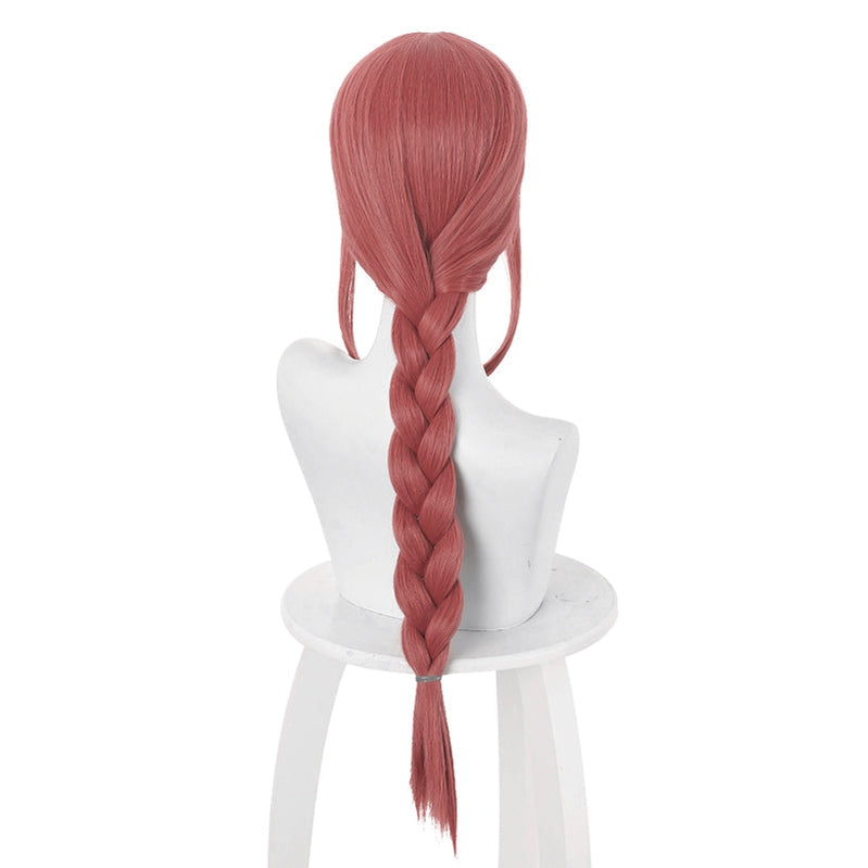 Anime Chainsaw Man Makima Bean Red Long Cosplay Wigs - Cosplay Clans