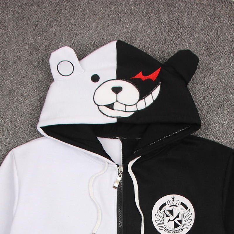 Danganronpa: Trigger Happy Havoc Monokuma Black and White Bear Cosplay Costumes - Cosplay Clans