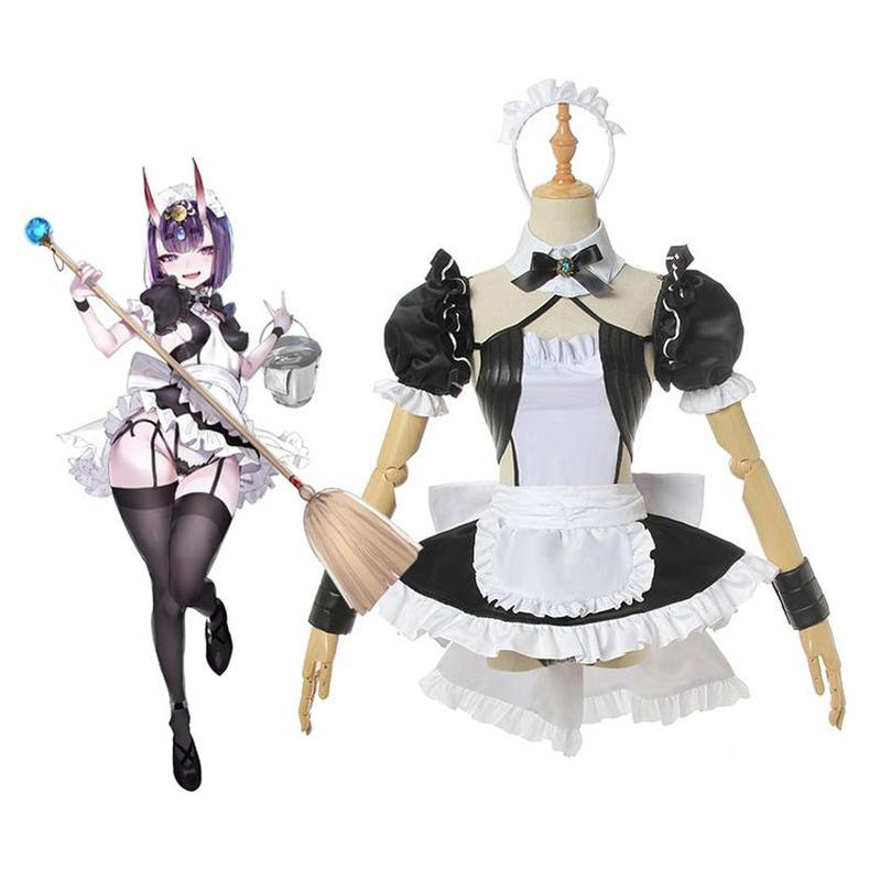 FGO Fate Grand Order Shuten douji Sexy Maid Dress Uniform Cosplay Costumes - Cosplay Clans