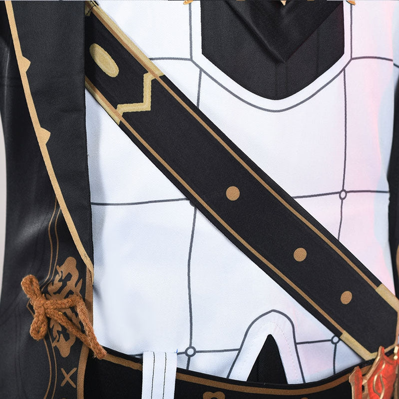 Game Genshin Impact Diluc Ragnvindr Full set Cosplay Costumes - Cosplay Clans