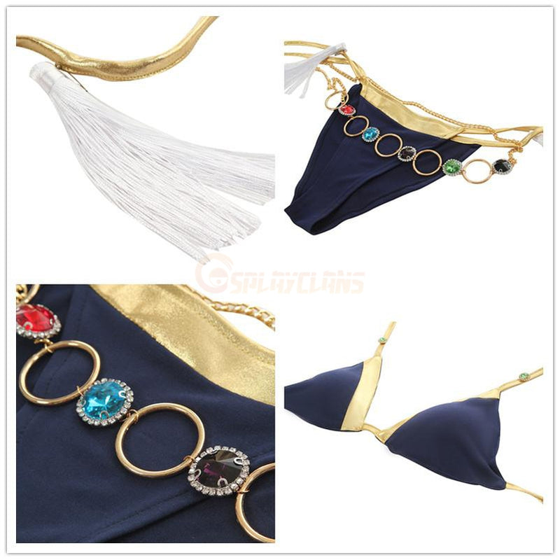 Anime FGO Fate/Grand Order Tamamo no Mae Swimsuit Cosplay Costumes - Cosplay Clans
