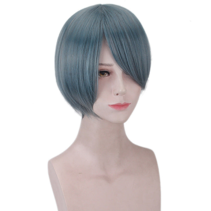 Anime Black Butler Ciel Phantomhive Short Dark Blue Cosplay Wigs - Cosplay Clans