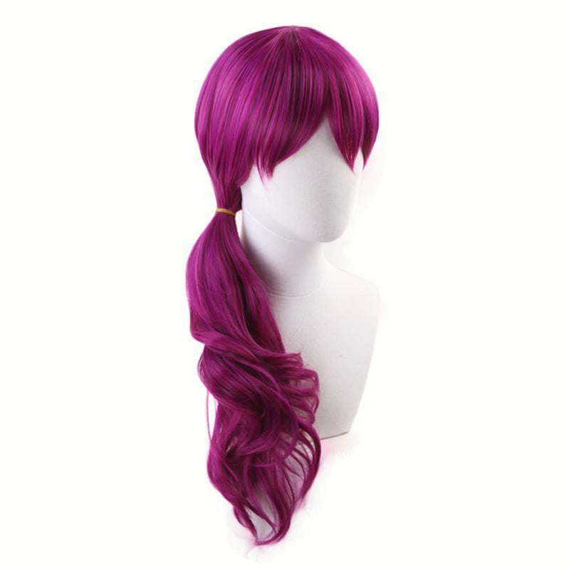 LOL KDA Evelynn Long Braid Hot Pink Cosplay Wigs Women Heat Reddish Violet Hair Wigs - Cosplay Clans