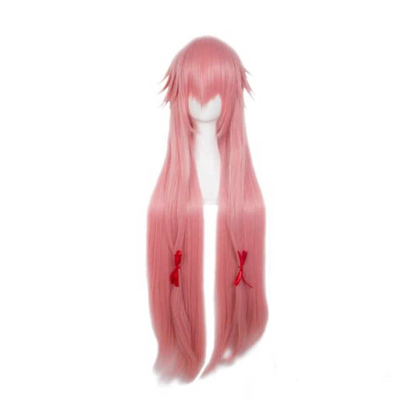 Anime Future Diary Yuno Gasai Long Pink Cosplay Wigs - Cosplay Clans