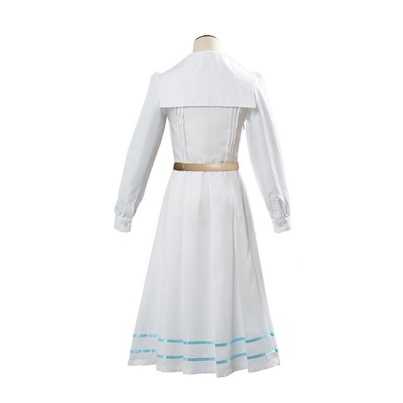 Anime Beastars Haru White Long Sleeve Dress Cosplay Costume - Cosplay Clans