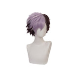 Anime TBHK Toilet-bound Hanako-kun Tsuchigomori Short Brown and Purple Cosplay Wigs - Cosplay Clans