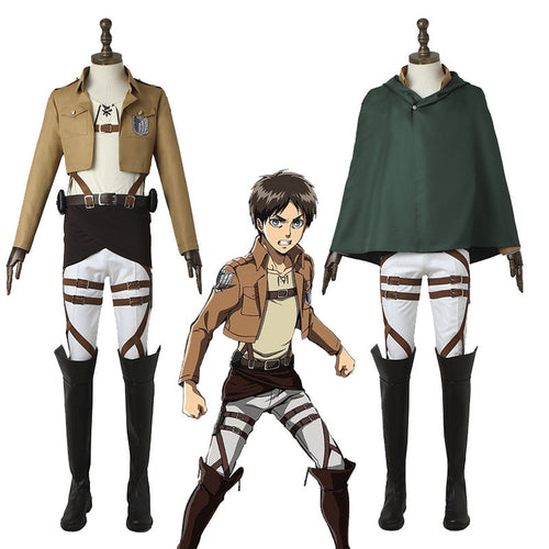 Anime Attack on Titan Eren Jaeger The Wings Of Freedom Survey Corps Uniform Set Cosplay Costume - Cosplay Clans