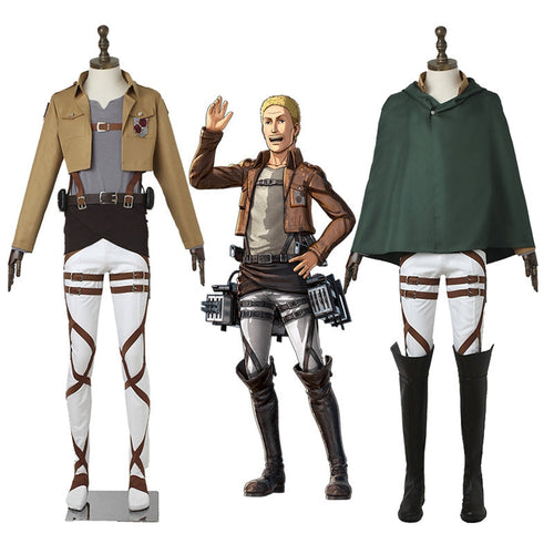 Anime Attack on Titan Garrison Regiment Uniform Set Cosplay Costume - Cosplay Clans
