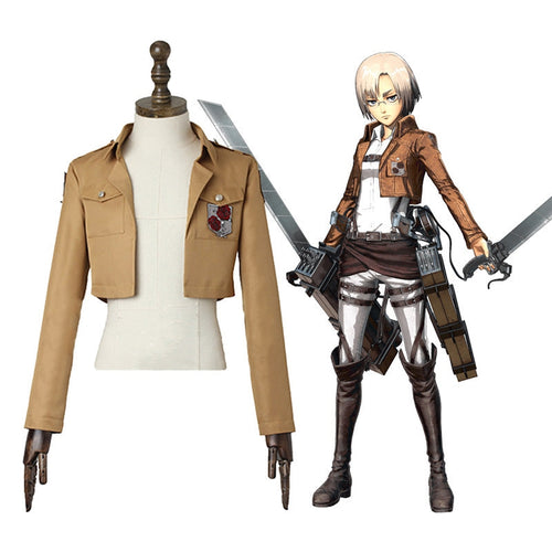 Anime Attack on Titan Rico Garrison Regiment Coat Cosplay Costume - Cosplay Clans