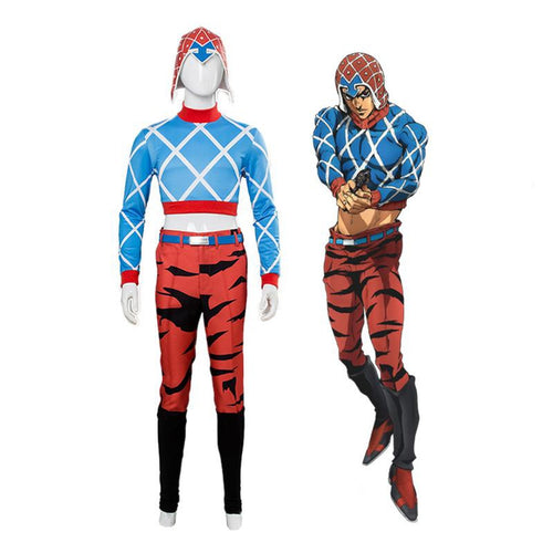 Anime JoJo's Bizarre Adventure Golden Wind Guido Mista Cosplay Costume - Cosplay Clans