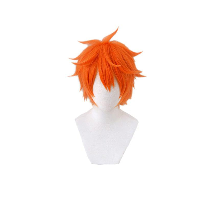 Anime Haikyuu Hinata Shoyo Short Orange Cosplay Wigs - Cosplay Clans
