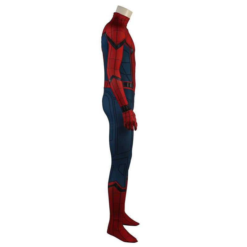 Movie Spider-Man: Homecoming Peter Parker Spiderman Jumpsuit Elastic Force Cosplay Costume with Headgear - Cosplay Clans