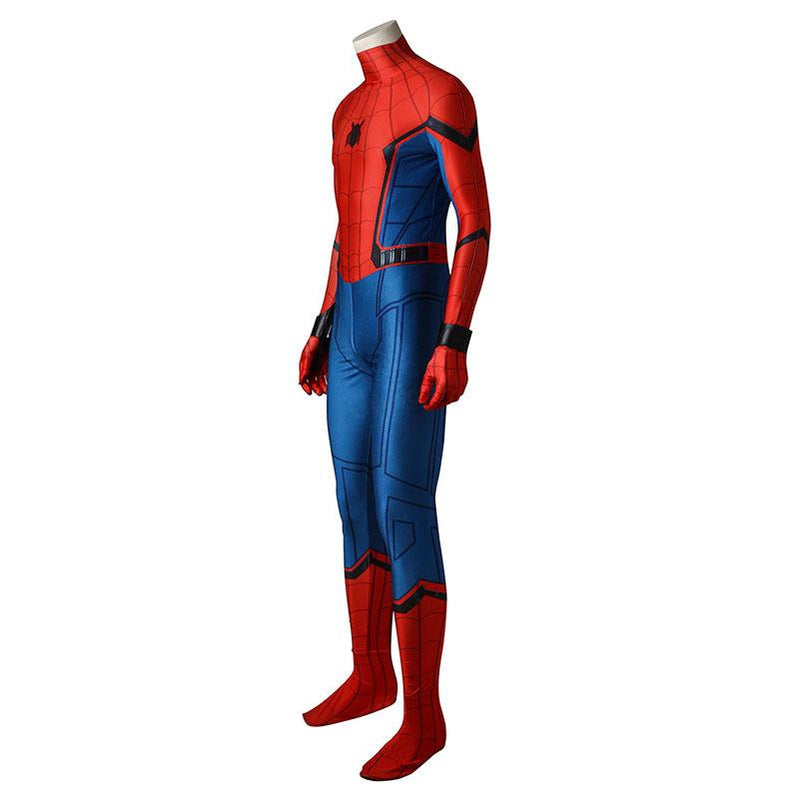 Movie Spider-Man: Homecoming Peter Parker Spiderman Jumpsuit Cosplay Costume with Free Bracers - Cosplay Clans